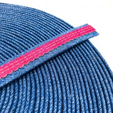 1 meter 18mm Flat Jeans Cord with Fuchsia cork