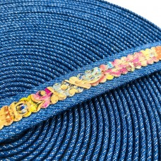 1 meter 18mm Flat Jeans Cord with SMA colorful cork