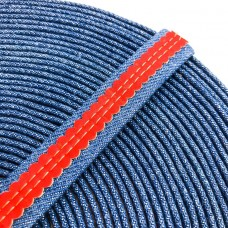 1 meter 18mm Flat Jeans Cord with red cork