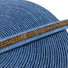 1 meter 18mm Flat Jeans Cord with brown cork