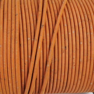1 m/39 in of salmon cork cord of 3 mm REF-