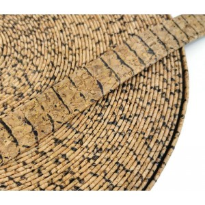 Pitton Flat cork Leather cord - 20mm x 2mm (European product) - REF-