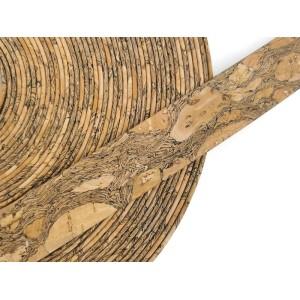 Granada Flat cork Leather cord - 20mm x 2mm (European product) - REF-