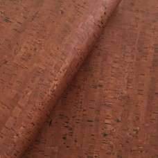 "Cork Leather, Portuguese cork fabric Brown bamboo pattern 68x50cm / 27.50""x20"""