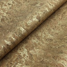 Cork leather - Portuguese cork fabric natural with golden roots