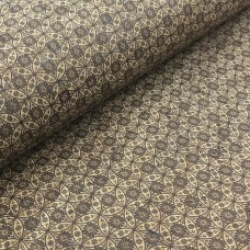 "Cork leather, green product, Portuguese cork fabric Printed pattern 68x50cm / 27.50""x20"" (004)"