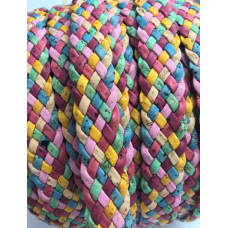 Cork Cording - 20mm flat cork braid Colourful - Portuguese cork 1 Meter - REF-526