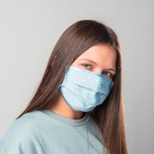 Blue Tissue Adult Face Mask, Tissue Face Mask Reusable, Washable mask