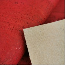 "Cork leather, green product, Portuguese cork fabric coral red 68x50cm / 27.50""x20"""
