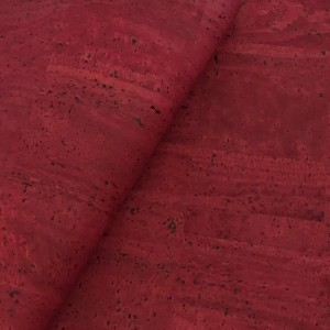 Cork leather - Portuguese cork fabric bordeaux