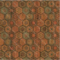 "Cork leather, green product, Portuguese cork fabric,tile Printed pattern 68x50cm / 27.50""x20"",(61)"