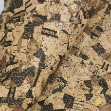 "Cork Fabric applied to Leather backing 1mm Thick 5.91''x8.66"" In / 14 x 22 Cm"