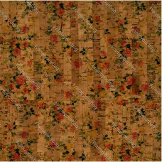 "Cork leather, green product, Portuguese cork fabric Printed pattern 68x50cm / 27.50""x20"" (018)"