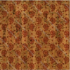 "Cork leather, Portuguese cork fabric Printed pattern 68x50cm / 27.50""x20"" (050)"