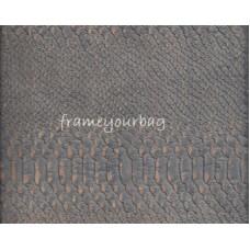 Cork leather - Portuguese cork fabric embossed blue crocodile 68 x 50 cm