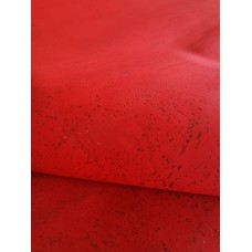 "Cork leather, green product, Portuguese cork fabric deep red 68x50cm / 27.50""x20"""