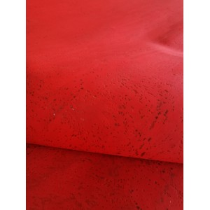 Cork leather - Portuguese cork fabric deep red