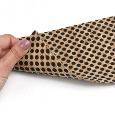Double sided Cork Fabric with black dots 15 x 22 cm / 5.91''x8.66""