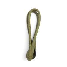 1 Pair of Cork fabric Green Army Rolled handbag handles 55cm