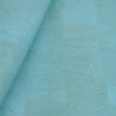 "Cork leather, green product, Portuguese cork fabric light blue 70x50cm/ 27.50""x20"""