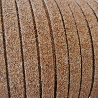 1 Meter / 39 in Portuguese stitched flat Cork Moondust 10x2mm - REF-