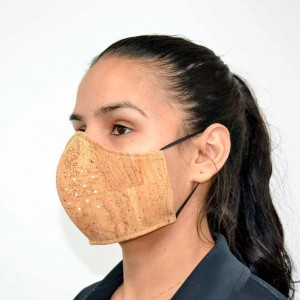 Natural Cork Adult Face Mask with Filter, Cork Face Mask Reusable, Washable mask