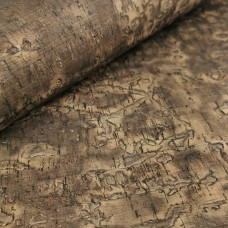 Cork leather - Portuguese cork fabric embossed oak tree texture