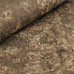 Cork leather - Portuguese cork fabric embossed oak tree texture