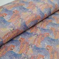 Cork leather - Portuguese cork fabric printed pattern on light pink cork (143)