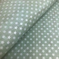 Cork leather - Portuguese cork fabric printed pattern on aqua green cork (146)