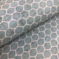 Cork leather - Portuguese cork fabric printed pattern on white cork (147)