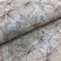 Cork leather - Portuguese cork fabric printed pattern on white cork (150)