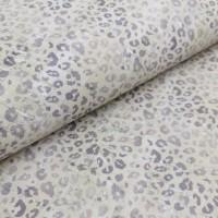 Cork leather - Portuguese cork fabric printed pattern on white cork (163f)