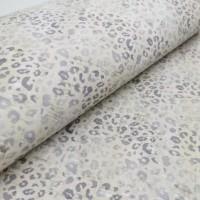 Cork leather - Portuguese cork fabric printed pattern on white cork (163h)
