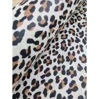 "Cork fabric, Printed pattern on white cork 68x50cm / 27.50""x20"", (23.5-b)"