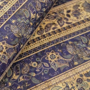 Cork leather - Portuguese cork fabric printed pattern on natural cork (033)