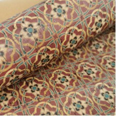 """Cork leather, green product, Portuguese cork fabric Printed pattern 68x50cm / 27.50""""x20"""" (087)"""