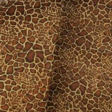 """Giraffe cork printed pattern orange tone 68x50cm / 27.50""""x20"""" - Portuguese cork fabric (092)"""