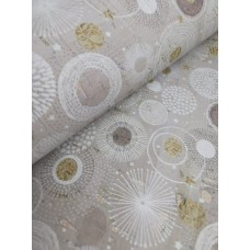 Cork leather - Portuguese cork fabric printed pattern on rustic light gray cork (O15)