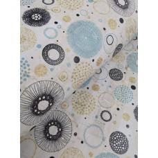 Cork leather - Portuguese cork fabric printed pattern on rustic light gray cork (O30)