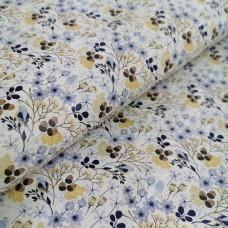 "Cork fabric, Printed pattern on white cork 68x50cm / 27.50""x20"", (B8)"