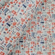 "Portugal cork fabric, Printed pattern on white cork 68x50cm / 27.50""x20"", (C5)"