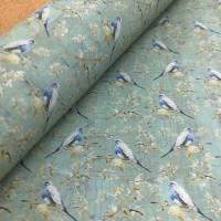 Cork leather - Portuguese cork fabric printed pattern on green aqua cork (F21_05)
