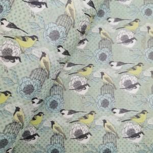 Cork leather - Portuguese cork fabric printed pattern on green aqua cork (F21_09)