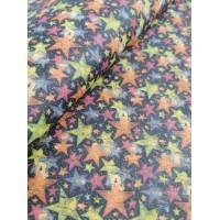 "Cork fabric, Printed pattern on natural rustic 68x50cm / 27.50""x20"" (O26)"
