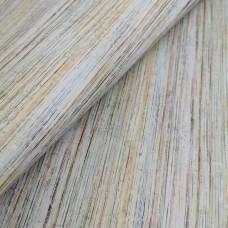 Cork leather - Portuguese cork fabric printed pattern on rustic light gray cork (O29)