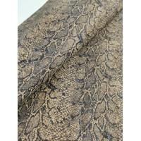 "Cork fabric, Printed pattern on natural rustic 68x50cm / 27.50""x20"" (O3)"
