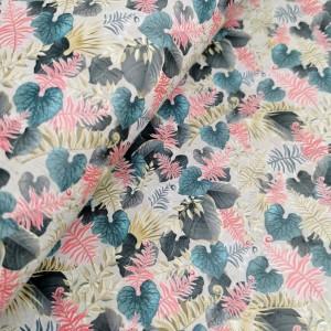 "Cork fabric, Printed pattern on light gray rustic 68x50cm / 27.50""x20"" (O43)"