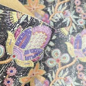 "Cork fabric, Printed pattern on white cork 68x50cm / 27.50""x20"", (O8)"