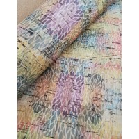 "Portuguese cork fabric, Printed pattern on natural cork 68x50cm / 27.50""x20"" (S1)"